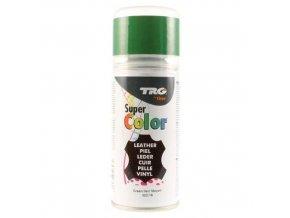 Zelená Barva na kůži ve spreji Super Color TRG Green 322 zeleny sprej na boty