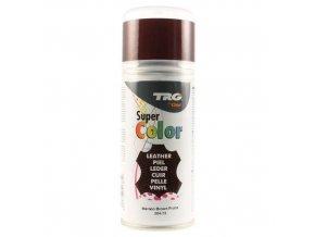 Hnědá Barva na kůži ve spreji Super Color TRG Maroon Brown 304 hnedy sprej na boty barveni bot sprejem