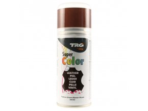 Hnědá Barva na kůži ve spreji Super Color TRG Fashion Brown 306 hnedy sprej na boty barvici