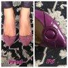 Fialová Barva na kůži ve spreji Super Color TRG Lavender 377 barveni bot na fialovo lodicky fialove prebarveni jak nabarvit boty sprejem na boty jako nove pred a po renovace barveni bot