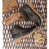 Pánské kožené kotníčkové boty s módní přezkou 2