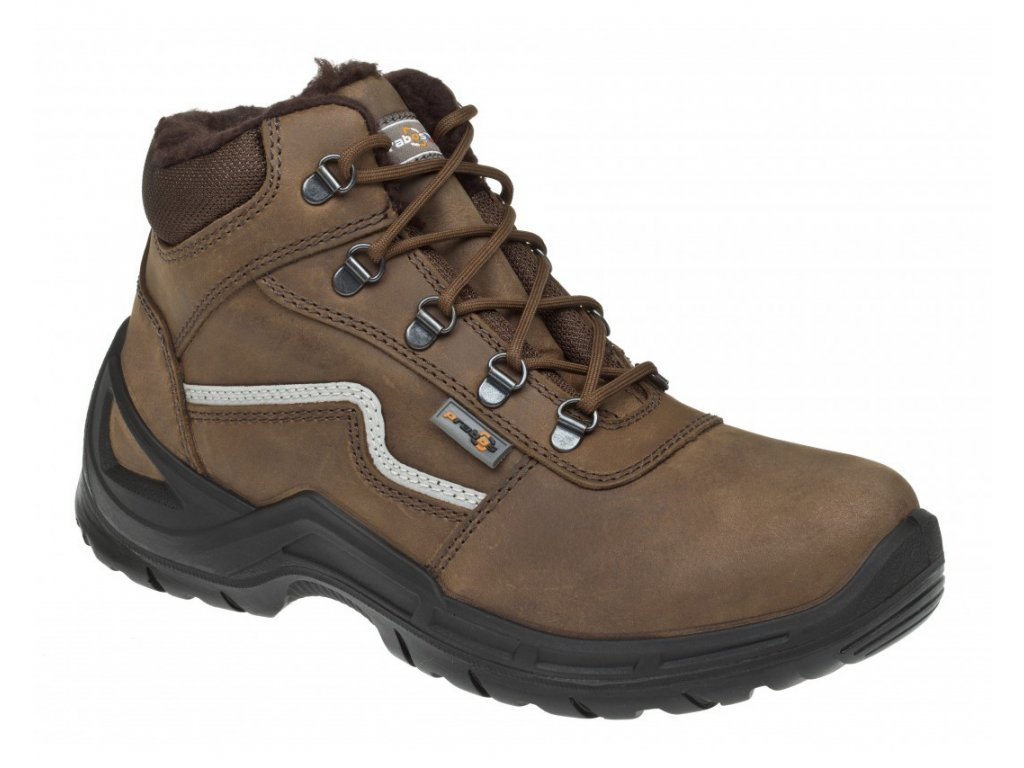 Pracovní obuv PRABOS Farm Mars O2 Winter S40022 hnědá