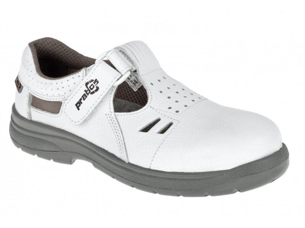 Pracovní sandál PRABOS Richard O1 S24533 - bílá