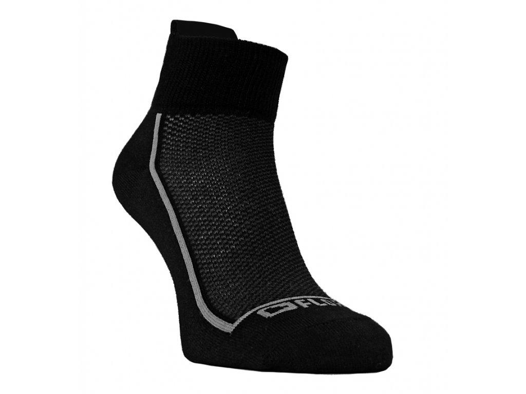 Funkční ponožky FLORES Sneaker - černá/šedá