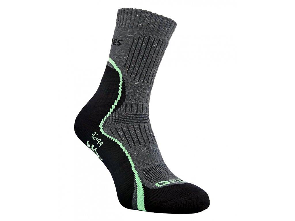 Funční ponožky FLORES Outdoor - sv. zelená