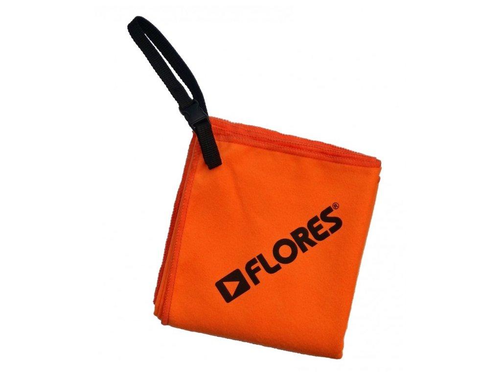 FLORES Trip Towel L - oranžová