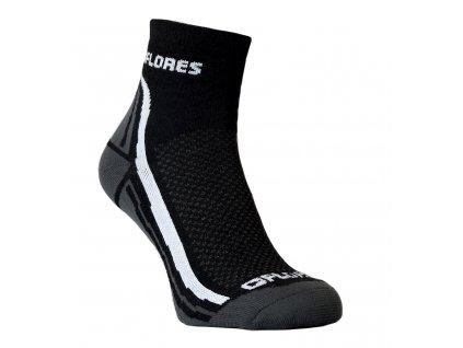 Funkční ponožky FLORES Active - černá/bílá