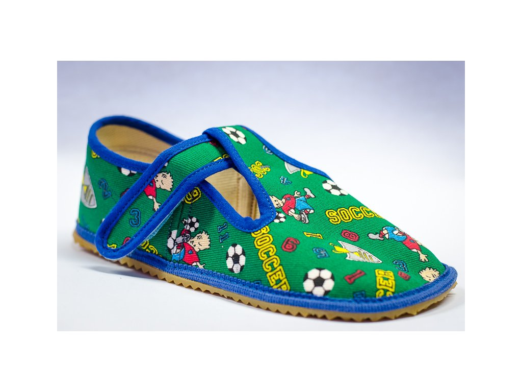 Papuče Beda barefoot zelené - Boty Rybička ac6a878dd0