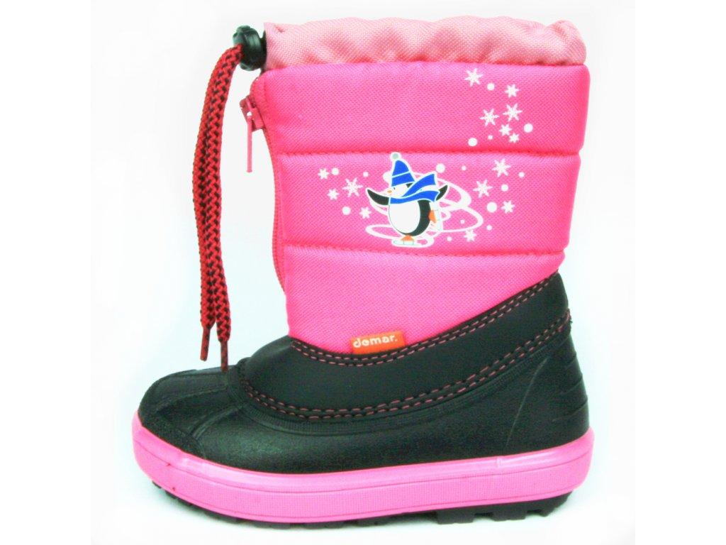 Zimní obuv sněhule demar Kenny 1502 růžová - Boty Rybička aa13279fc9