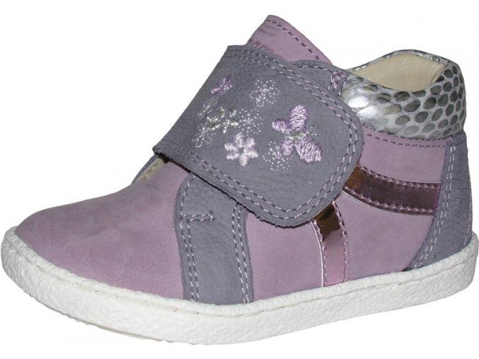 Celoroční obuv Szamos 1468-500711 šedorůžová