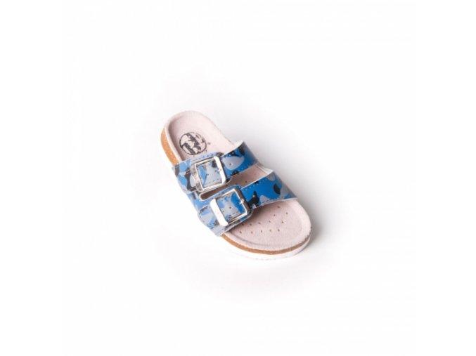 Pantofle BF chlapecké - modrá maskáč