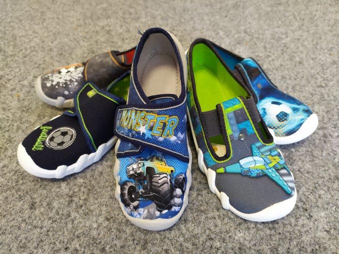 Befado papuče na gumičku, suchý zip chlapecká