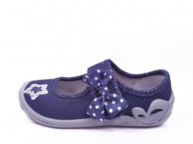 Papuče Fischer navy - dívčí
