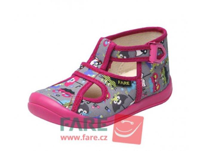 papuče Fare 4114446 dívčí se sponou