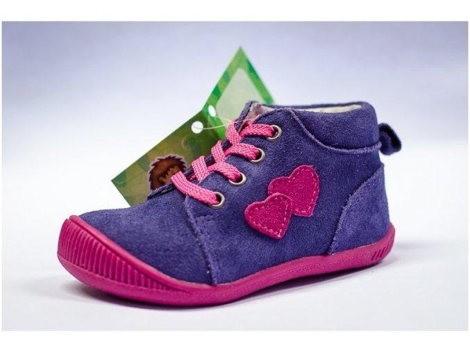 Celoroční obuv Protetika fialová se srdíčkem
