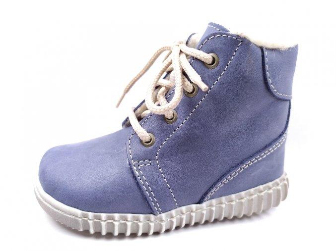 Zimní obuv Pegres 1705 modré - světlé tkaničky