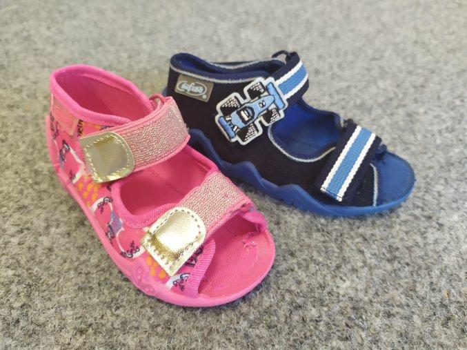 Befado papuče sandály na suchý zip, dívčí, chlapecké