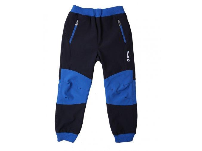 vyr 7914 chlapecke softshellove kalhoty B2183 tmave modre