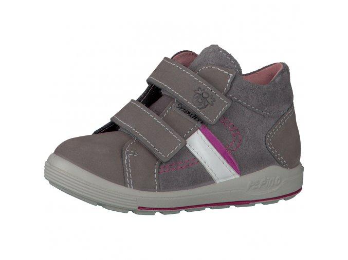 Celoroční membránová obuv Ricosta -LAIF 71 2420100/461 graphit/candy Nubuk/Velour