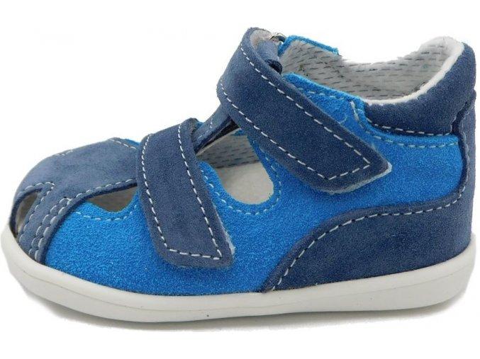 Letní obuv Jonap sandály 041S Modrá