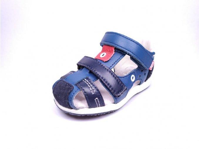 Befado sandálky na suchý zip - granát