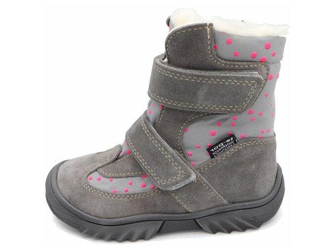 Zimní obuv Jonap 024MV šedá pun s membránou