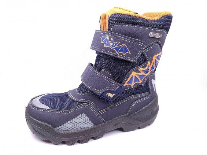 Zimní obuv Lurchi 33-31046-32 Blikací svítící boty s netopýry
