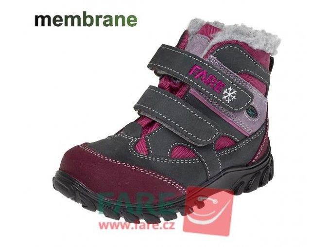Zimní dětská trekingová obuv Fare 846292 s membránou