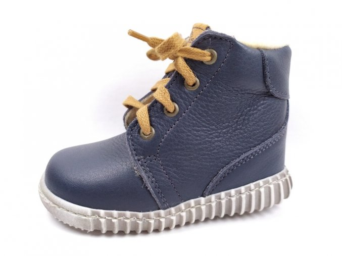 Zimní obuv Pegres B1705 tmavě modré - tkaničky