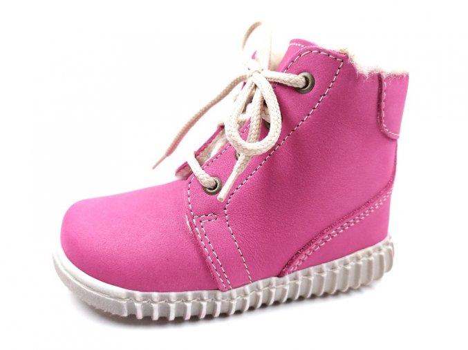 Zimní obuv Pegres 1705 růžové - tkaničky