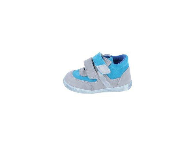 Celoroční obuv Jonap 051MV - šedá tyrkys