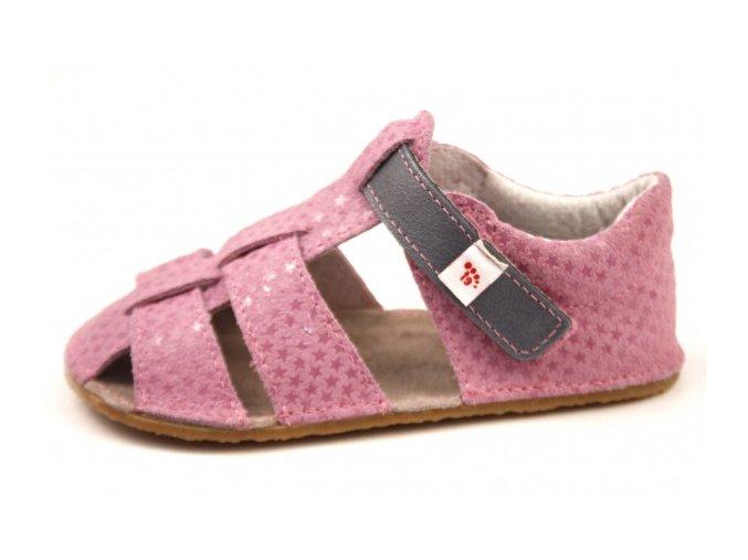 Barefoot sandálky EF růžové