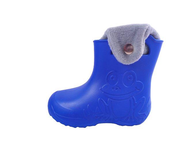 Gumáky Camminare žabka, vyjímatelná teplá vložka - modré