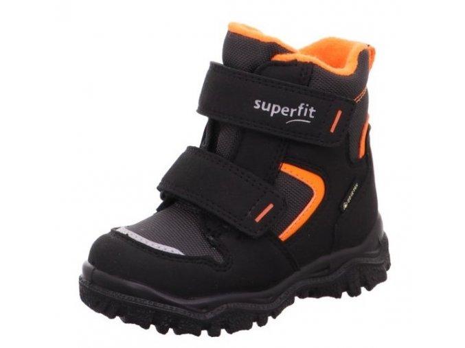 Zimní obuv Superfit 1-000047-0010 schwarz/orange