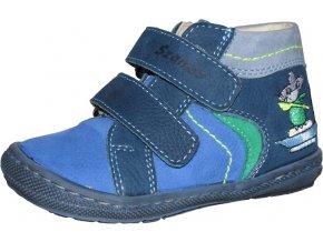 Celoroční obuv Szamos 1496-206571 modrá, myška