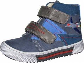 Celoroční obuv Szamos 1494-202372 modrá s letadlem
