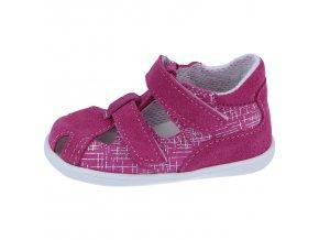 Sandálky Jonap 041S - růžová devon