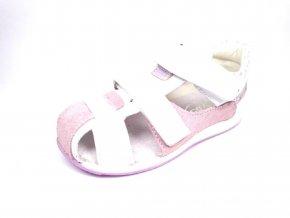 Befado  sandály na suchý zip bílé