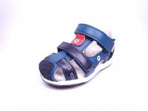 Befado  sandály na suchý zip Granát