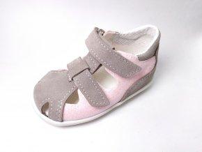 Sandálky Jonap 041S - šedá devon