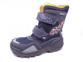 Zimní obuv Lurchi 33-31046-32 Blikací svítící boty s netopýry modré
