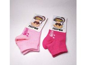 BAMBUSOVÉ ponožky nízké DÍVČÍ