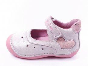 Letní obuv DDstep baleríny 015-199 White