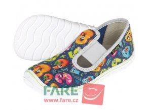 Papuče Fare BARE dívčí  5101401
