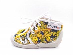 Boots4you Žlutá potisk 1