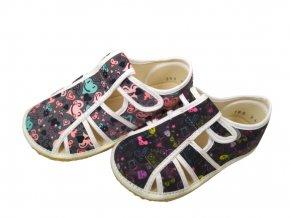 Papuče sandálky Jonap BAREFOOT DÍVČÍ