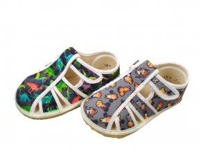 Papuče sandálky Jonap BAREFOOT CHLAPECKÉ