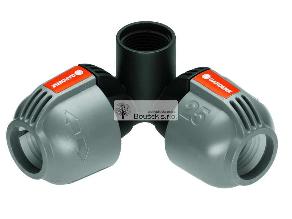 GARDENA L-kus 25 mm x vnitřní závit 3/4, rohová přípojka zadešťovače