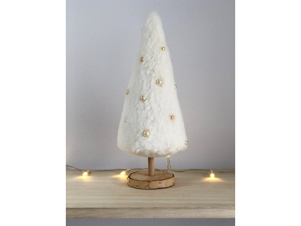 Dekorace bílý vánoční stromeček