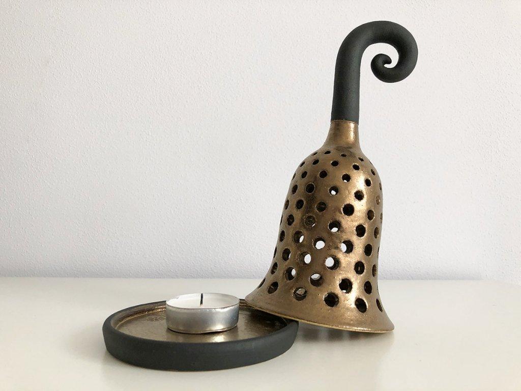 Keramická lucerna na svíčku Amara